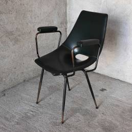 Curved Compensation Company Monza Coated Armchair 1950