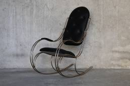 Sedia a Dondolo Ottone 1970
