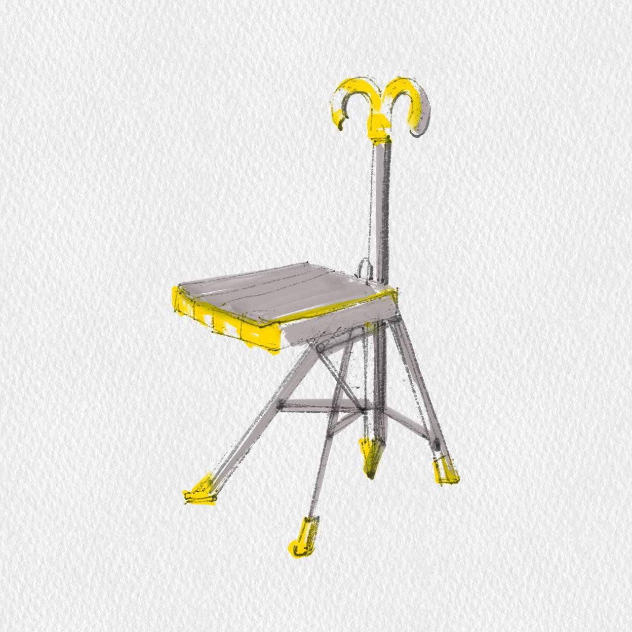 Sedie Pieghevoli - Zerodisegno Gaetano Pesce Umbrella Chair | 1995