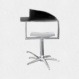 Sedie da Barbiere - Maletti Philippe Starck Modern | 1989